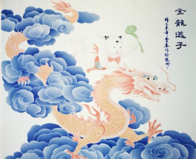 瓷板画家居装饰特殊陶艺2