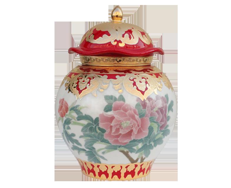 红釉将军罐茶叶罐