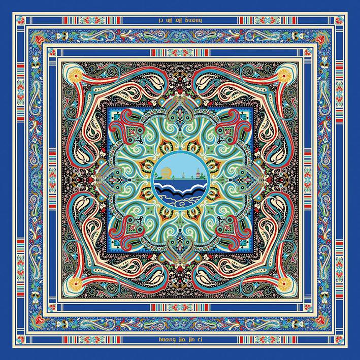 皇家金瓷丝巾